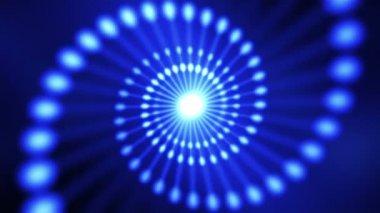 Espiral de adn azul resumen — Vídeo de Stock