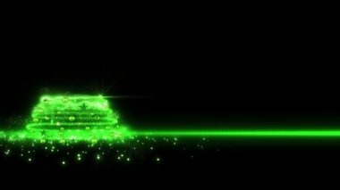 Green lights Christmas Tree 2013 — Stock Video