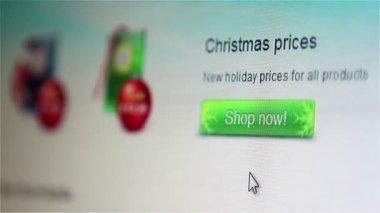 指向要在线购买的圣诞礼物 — 图库视频影像