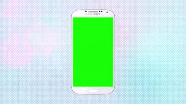 Samsung Galaxy S4 with green screen and Alpha Matte — Stock Video