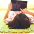 Teenage Girl Using Digital Tablet — Stock Video #28461063