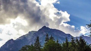 Bucegi Mountains - time lapse — Stock Video