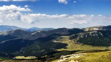 Romania mountains landscape time lapse — Stock Video