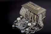 Silver jewelry — Stock Photo