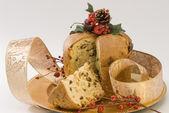 Christmas Sweet. Panettone. — Stock Photo