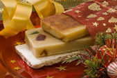 Christmas nougat — Stock Photo