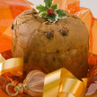 Christmas sweets.Panettone. — Stock Photo