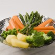 Steamed vegetables. — Stockfoto
