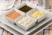 Assorted sauces. — Stock Photo