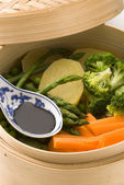 Steamed vegetables. — Stock Photo
