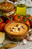 Spanish Cuisune. Salmorejo. — Stock Photo