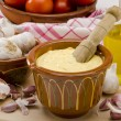Garlic Mayonnaise Sauce. Alioli. - Stock Photo