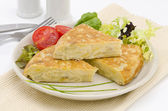 Spanish Cuisine. Spanish Omelette. Tortilla de patatas. — Stock Photo