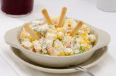 Spanish Cuisine. Russian salad. Ensaladilla rusa. — Stock Photo
