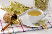 Lime Tree Herbal Tea — Stock Photo