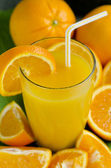 Orange juice in a glass. — Stock Photo