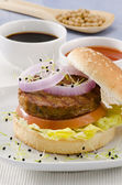 Vegetarian tofu burger. — Stock Photo