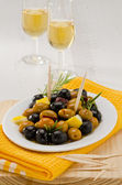 Spanish Cuisine. Marinated olives. — Stock Photo
