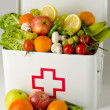 Healthy food. First aid box filled with fruits and vegetables. — Stock Photo #51190769