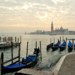 Gondolas on the Venetian Lagoon — Stock Photo