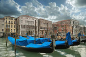 Venice gondolas Grand Canal panorama — Stock Photo