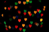 Bokeh of hearts background — Стоковое фото