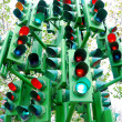Lot of traffic lights — Stock Photo