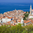 Beautiful old town of Piran in Slovenia — Stock Photo