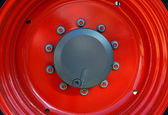 Red tractor rim — Stock Photo