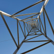 High voltage tower 1-looking up - Stock Photo