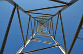 High voltage tower 2-looking up — Stock Photo