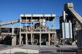Cement factory kiln — Stock Photo