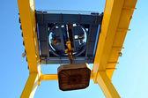 Unloading platform electromagnet — Stock Photo
