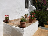 Patio and pots — Stock Photo