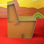 Cardboard chair — Stock Photo