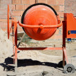 Orange cement mixer — Stock Photo