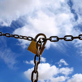 Padlock and chain — Foto Stock