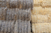 Bales of straw (two colors) — Stock Photo