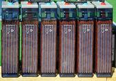 Row of accumulators — Stock Photo
