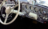 Vintage car - inside — Stock Photo