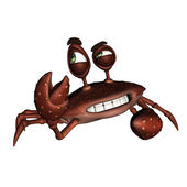 Cartoon Crab — Stock Photo