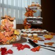 Foto Stock: Fall wedding cake