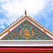 Traditional of Thai style on top part the temple Thailand — Stock Photo