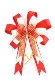 Christmas bow isolated on white — Stock Photo