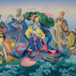 Stock Photo: Gods of Chinese. Art painting colorful on wall