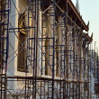 Renovation of old church with scaffolding, Thailand — Stock Photo