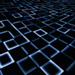 Stockfoto: Abstract square pixel mosaic blue background