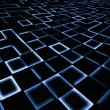 图库照片: Abstract square pixel mosaic blue background