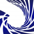 Stock Photo: Abstract swirl blue on white background