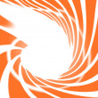 Photo: Abstract swirl orange on white background